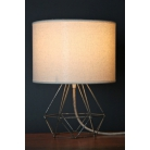 Empirical Style Table Light Exposed Metal