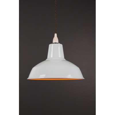 Metal Shade Pendant Light Blue