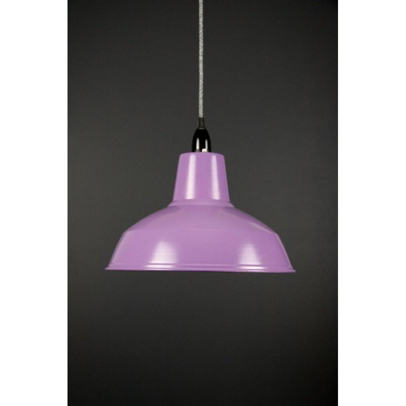 Metal Shade Pendant Purple