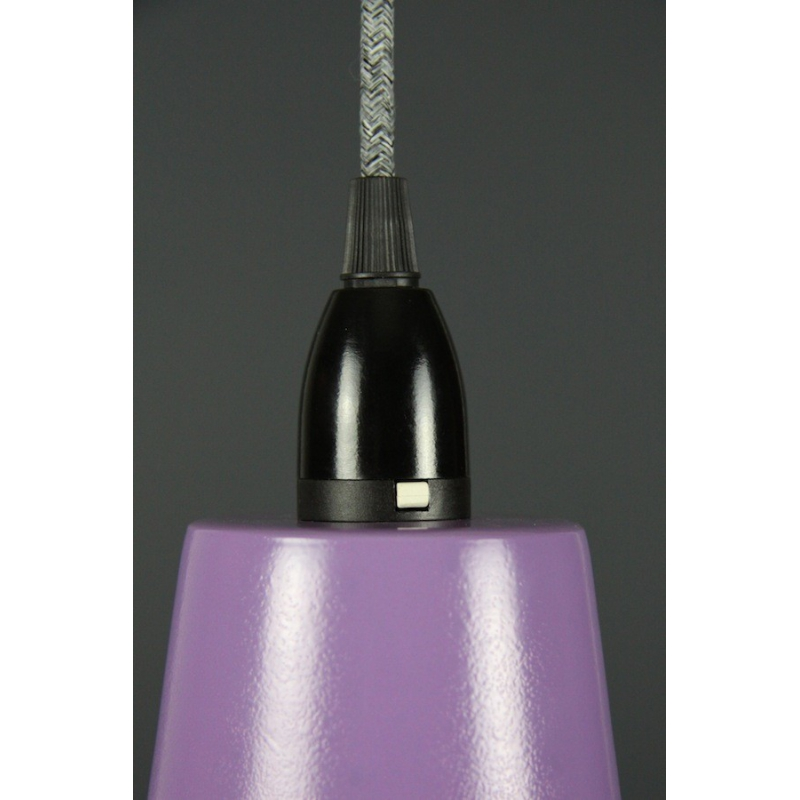 Metal Shade Pendant Purple