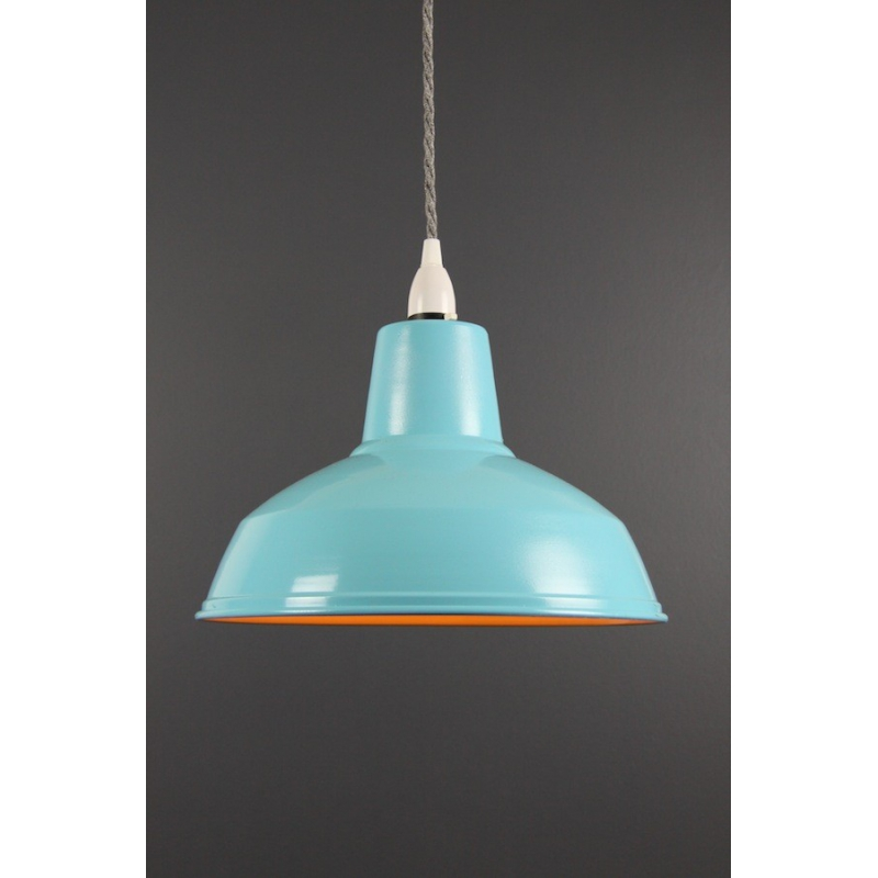 Metal Shade Pendant Vibrant Blue