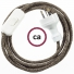 Wiring Brown Natural Linen textile cable RN04 - 1.80 mt