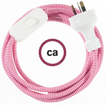 Wiring ZigZag Fuchsia textile cable RZ08 - 1.80 mt