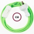 Wiring Green Fluo textile cable RF06 - 1.80 mt