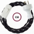 Wiring Black Rayon textile cable TM04 - 1.80 mt