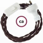 Wiring Brown Rayon textile cable TM13 - 1.80 mt
