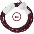 Wiring Burgundy Rayon textile cable TM19 - 1.80 mt