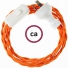 Wiring Orange Rayon textile cable TM15 - 1.80 mt