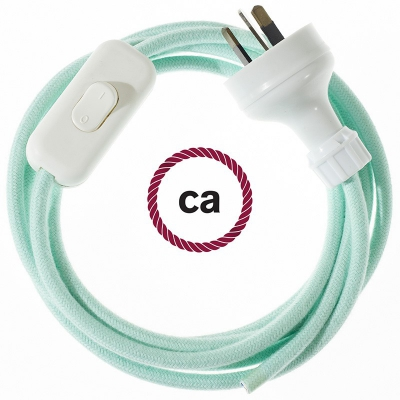 Wiring Milk and Mint Cotton textile cable RC34 - 1.80 mt