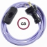 Wiring Lilac Rayon textile cable RM07 - 1.80 mt