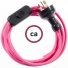Wiring Fuchsia Rayon textile cable RM08 - 1.80 mt