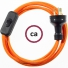 Wiring Orange Rayon textile cable RM15 - 1.80 mt