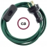 Wiring Dark Green Rayon textile cable RM21 - 1.80 mt