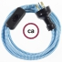 Wiring ZigZag Turquoise textile cable RZ11 - 1.80 mt