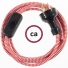 Wiring ZigZag Red textile cable RZ09 - 1.80 mt