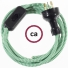 Wiring ZigZag Green textile cable RZ06 - 1.80 mt