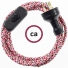 Wiring Pixel Fuchsia textile cable RX00 - 1.80 mt