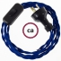 Wiring Blue Rayon textile cable TM12 - 1.80 mt