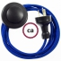 Wiring Pedestal Blue Rayon textile cable RM12 - 3 mt