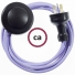 Wiring Pedestal Lilac Rayon textile cable RM07 - 3 mt