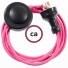 Wiring Pedestal Fuchsia Rayon textile cable RM08 - 3 mt