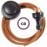 Wiring Pedestal Deer Cotton textile cable RC23 - 3 mt