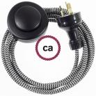 Wiring Pedestal ZigZag Black textile cable RZ04 - 3 mt