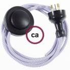 Wiring Pedestal ZigZag Lilac textile cable RZ07 - 3 mt