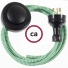 Wiring Pedestal ZigZag Green textile cable RZ06 - 3 mt