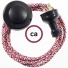 Wiring Pedestal Pixel Fuchsia textile cable RX00 - 3 mt