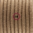 Pendant for lampshade, suspended lamp with Brown Cotton textile cable RC13