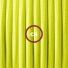 Pendant for lampshade, suspended lamp with Yellow Fluo textile cable RF10