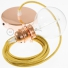 Pendant for lampshade, suspended lamp with Glittering Gold textile cable RL05