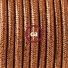 Pendant for lampshade, suspended lamp with Glittering Copper textile cable RL22