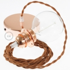 Pendant for lampshade, suspended lamp with Deer Cotton textile cable TC23