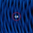 Pendant for lampshade, suspended lamp with Blue Rayon textile cable TM12