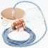 Pendant for lampshade, suspended lamp with Ocean Cotton textile cable TC53