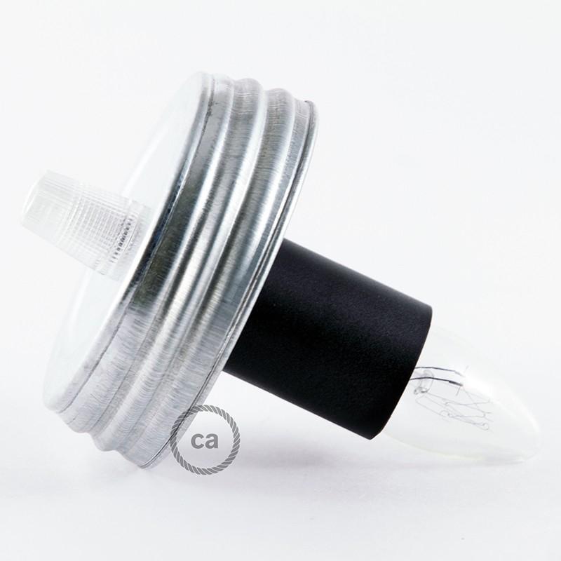 DIY Mason Jar Pendant Kit, Galvanized