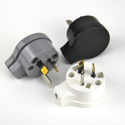 Electrical Plug Male  3 pin socket AU Side entry
