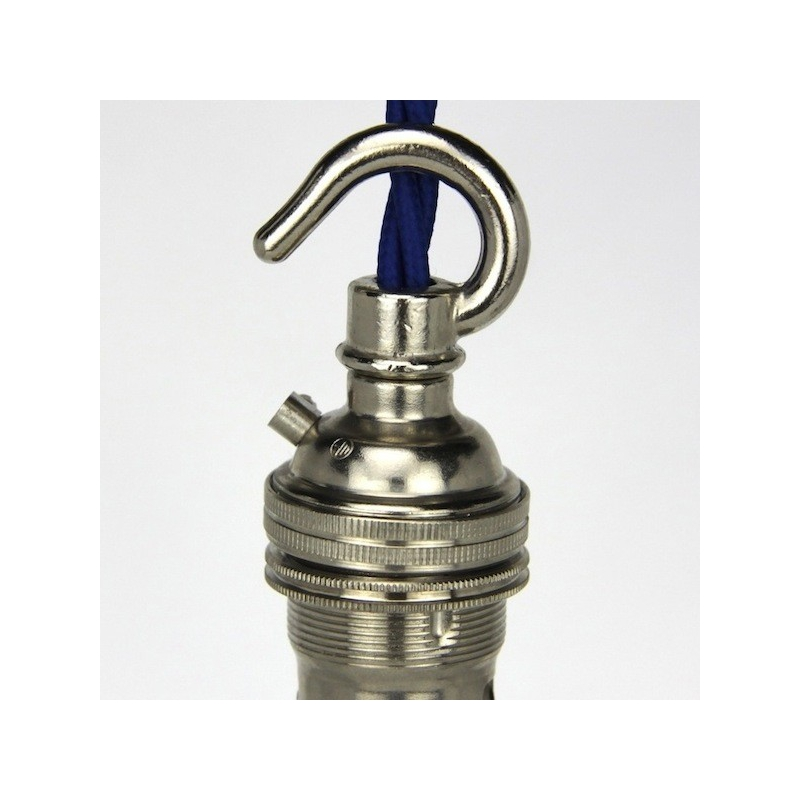 Lampholder Small Nickel  with Hook
