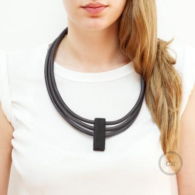 Circles Necklace color: Dark Gray RM26.