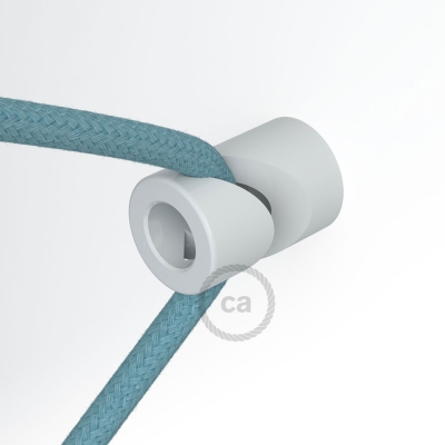 "Decentralizer, White ""V"" ceiling or wall hook for any fabric electric cable"