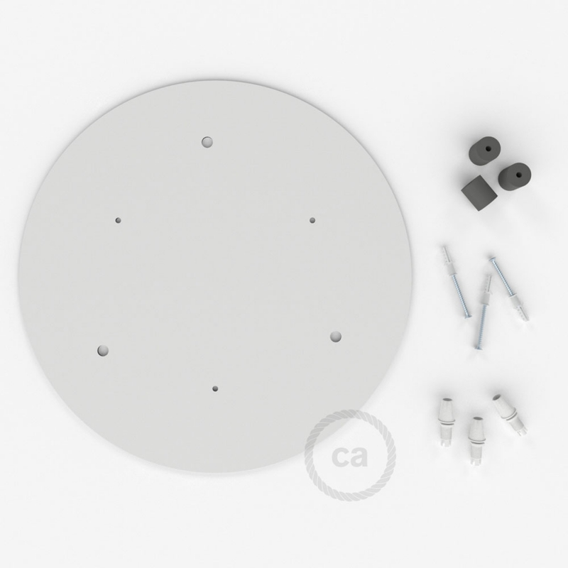 Round 35 cm XXL Ceiling Rose with 3 holes + Accessories