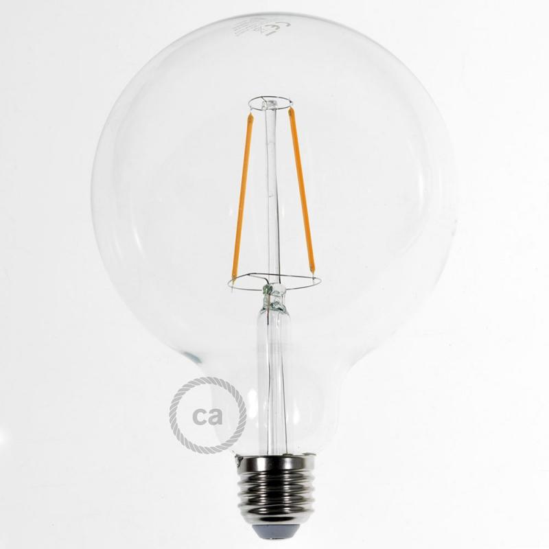 Led Transparent Light Bulb Globe G125 Long Filament 4w Decorative Vintage 2200k