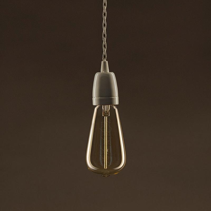 Vintage Golden Light Bulb Edison ST64 Carbon Filament Double Spiral Curve 30W E27 Dimmable 2000K