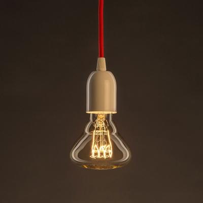 Vintage Golden Light Bulb BR95 Carbon Filament Spiral Curve Horizontal 30W E27 Dimmable 2000K
