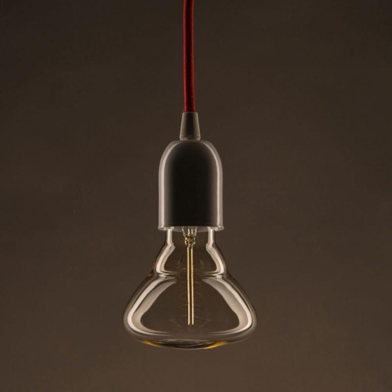 Vintage Golden Light Bulb BR95 Carbon Filament Double Spiral Curve 30W E27 Dimmable 2000K