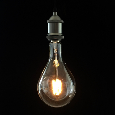 XXXL LED Transparent Light Bulb- Droplet - 4W E40 Dimmable 2200K