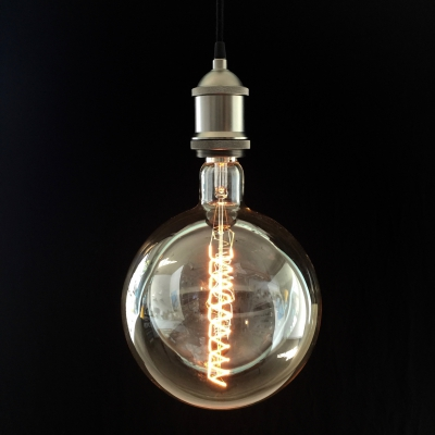 XXXL LED Transparent Light Bulb Round Cockscrew 4W E40 Dimmable 2200K