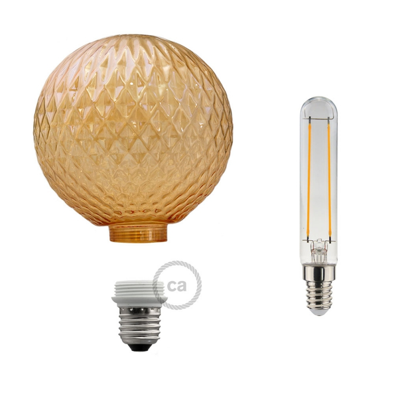 Modular LED Decorative Light bulb with Smoked Jewel Cut 5W E27 Dimmable 2700K